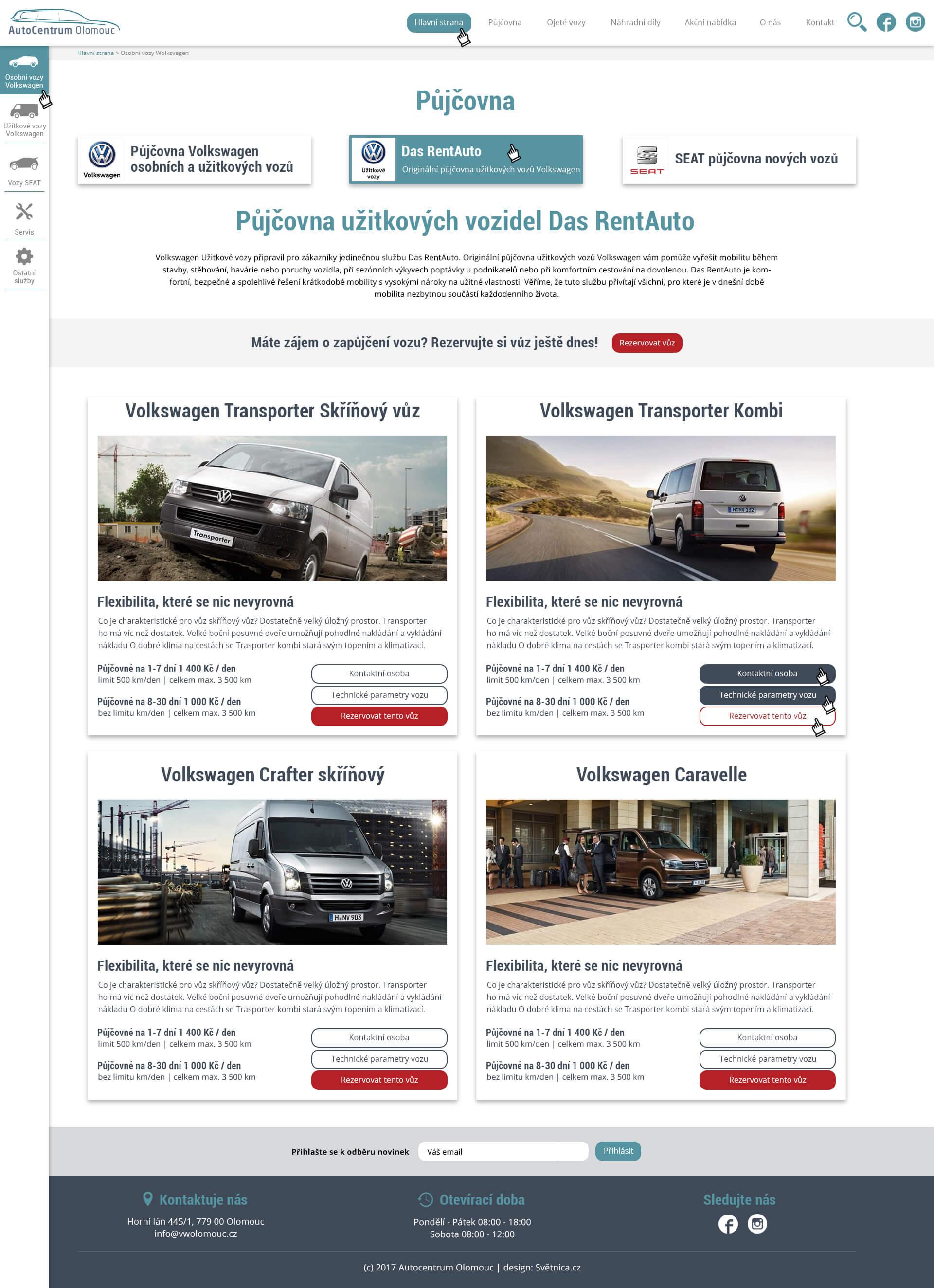 webdesign-autocentrum-olomouc-pujcovna