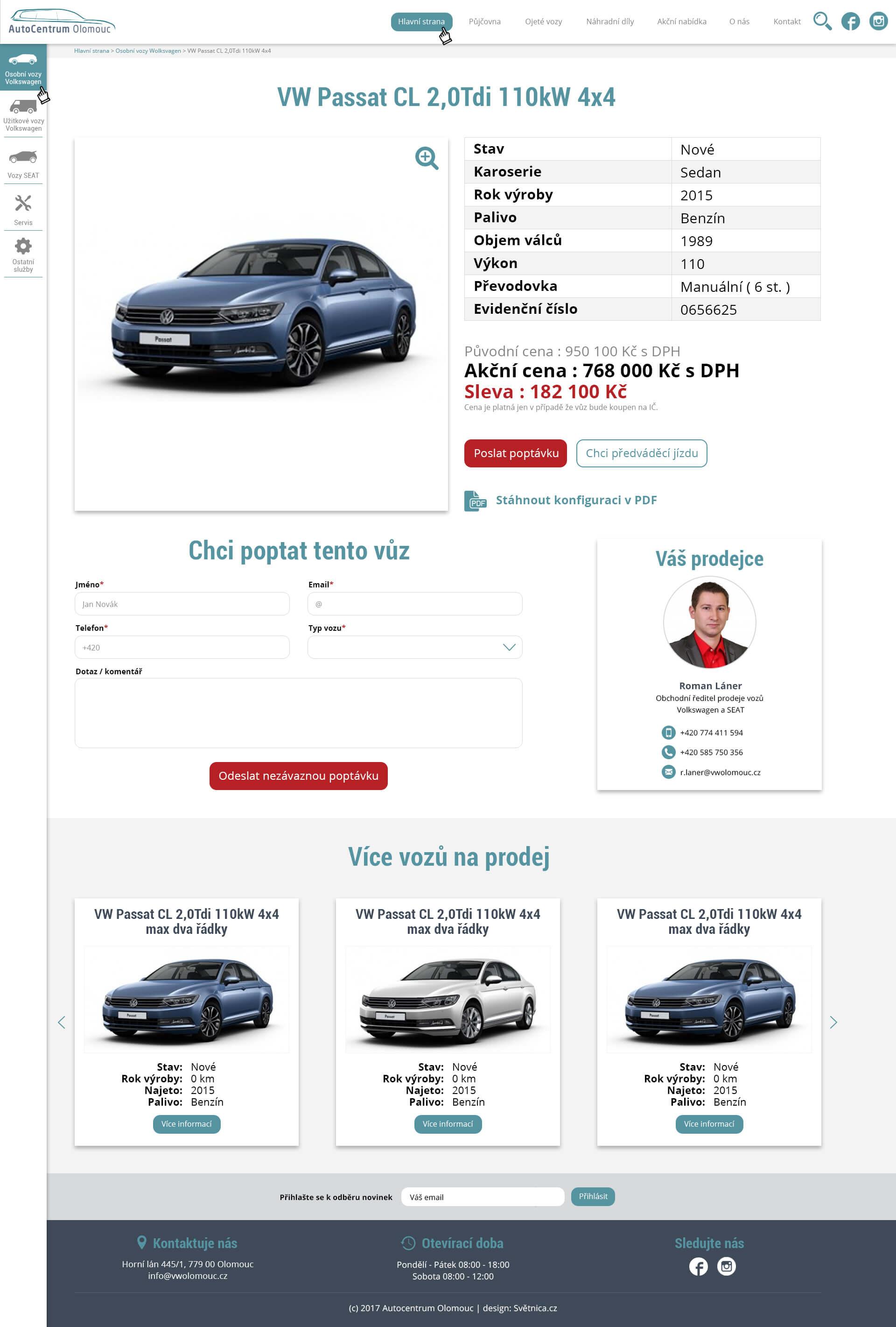 webdesign-autocentrum-olomouc-vizitka-vozu